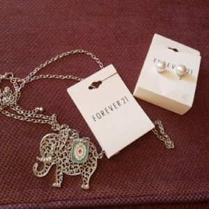 Forever 21 necklace and earrings